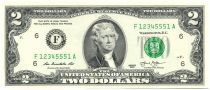 Etats Unis d´Amérique 2 Dollars Jefferson - Indépendance 1776 - 2013 F6 Atlanta