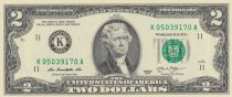 Etats Unis d´Amérique 2 Dollars Jefferson - Indépendance 1776 - 2013 K11 Dallas