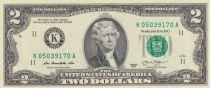 Etats Unis d´Amérique 2 Dollars Jefferson - Indépendance 1776 - 2013 K11 Dallas