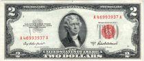 Etats Unis d´Amérique 2 Dollars Jefferson - Monticello - 1953 A - A 46993937 A