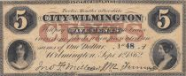 Etats Unis d´Amérique 5 Cents 1862 - City of Wilmington, Delaware