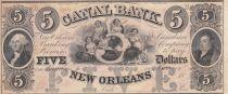 Etats Unis d´Amérique 5 Dollars Canal Bank 18xx - G. Washington - Série B