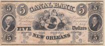 Etats Unis d´Amérique 5 Dollars Canal Bank 18xx - G. Washington - Série D