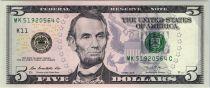 Etats Unis d´Amérique 5 Dollars Lincoln - Lincoln Mémorial 2013 -  K11 Dallas