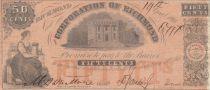 Etats Unis d´Amérique 50 Cents 1861 - Corporation of Richmond, Virginia