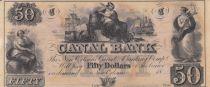 Etats Unis d´Amérique 50 Dollars Canal Bank 18xx - Figure allégorique, navires - Série C