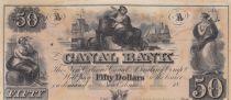 Etats Unis d´Amérique 50 Dollars Canal Bank 18xx - Figure allégorique, navires - Série D