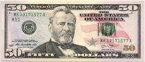 Etats Unis d´Amérique 50 Dollars Grant - Capitol 2013 K11 Dallas