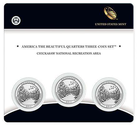 Etats Unis d´Amérique FDC.2011 Coffret 3 x 1/4 $ Chickasaw