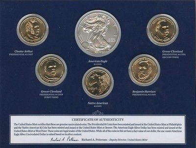 Etats Unis d´Amérique FDC.2012 Coffret FDC 2012 - 1 $ 2012 - 6 pièces