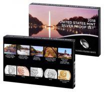 Etats Unis d\'Amérique USA Coffret Proof complet Argent 2018S - 10 pièces
