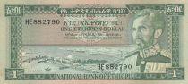 Ethiopia 1 Dollar Haile Selassié - Lion - 1966 - AU - P25