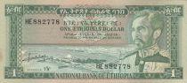 Ethiopia 1 Dollar Haile Selassié - Lion - 1966 - XF - P.25 Serial HE