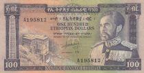 Ethiopia 100 Dollars Haile Selassié - Lion - 1966 - VF - P.29 - A.195812