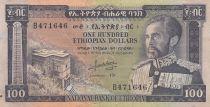 Ethiopia 100 Dollars Haile Selassié - Lion - 1966 - VF - P.29 - B.471646