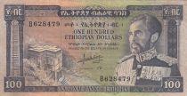 Ethiopia 100 Dollars Haile Selassié - Lion - 1966 - VF - P.29 - B.628479