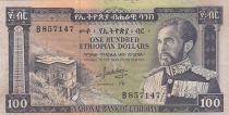 Ethiopia 100 Dollars Haile Selassié - Lion - 1966 - VF - P.29 - B.857147