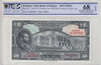 Ethiopia 50 Dollars Haile Selassié - 1945 - PCGS 68 OPQ