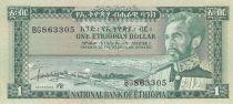 Ethiopie 1 Dollar Haile Selassié - Lion - 1966 - SPL - P.25 Série BG