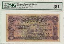 Ethiopie 10 Thalers, Léopard  - 1932 - PCGS 30