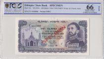 Ethiopie 100 Dollars Haile Selassié - 1961 - PCGS 66 OPQ