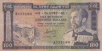 Ethiopie 100 Dollars ND1966 - H. Selassié, bâtiment - Série A 333160