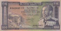 Ethiopie 100 Dollars ND1966 - H. Selassié, bâtiment - Série A 942047