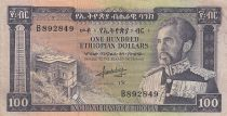 Ethiopie 100 Dollars ND1966 - H. Selassié, bâtiment - Série B 892849