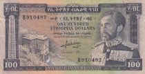 Ethiopie 100 Dollars ND1966 - H. Selassié, bâtiment - Série B 910482