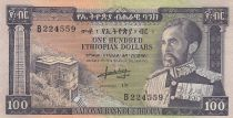 Ethiopie 100 Dollars ND1966 - H. Selassié, bâtiment