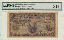 Ethiopie 5 Thalers, Grand Koudou - Lion - 1932 - PCGS 30