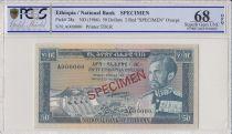 Ethiopie 50 Dollars H. Selassié - Barrage - PCGS 68 OPQ