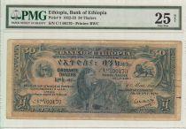 Ethiopie 50 Thalers, Lion - Immeuble Banque Centrale - 1932 - PCGS 25