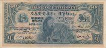 Ethiopie 50 Thalers, Lion - Immeuble Banque Centrale - 1932