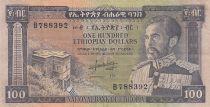 Etiopia 100 Dollars ND1966 - H. Selassie, building - Serial B