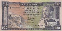 Etiopia 100 Dollars ND1966 - H. Selassie, building