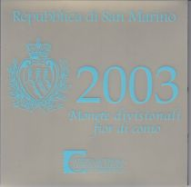 Europe Coffret BU San Marin 2003- 9 Monnaies