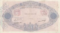 F.30.31 P.66 500 Francs, Pink and blue  - 1928 - F.1081