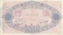 F.30.31 P.66 500 Francs, Rose et Bleu  - 1928 - F.1081