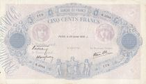 F.31.37 P.88 500 Francs, Blue and pink - K.3504 - 1939
