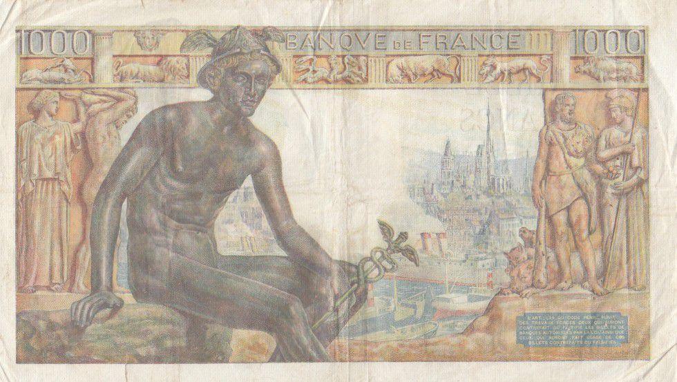 F.40.6 P.102 1000 Francs, Déesse Déméter - 03-09-1942 Série U.1165