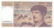 F.66.1 P.151 20 Francs, Debussy - A.002 - 328803 - 1980
