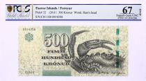 Faroe Islands 500 Kronur, Crab\'s claw - View of Hvannasundi - 2011 - PCGS 67 OPQ