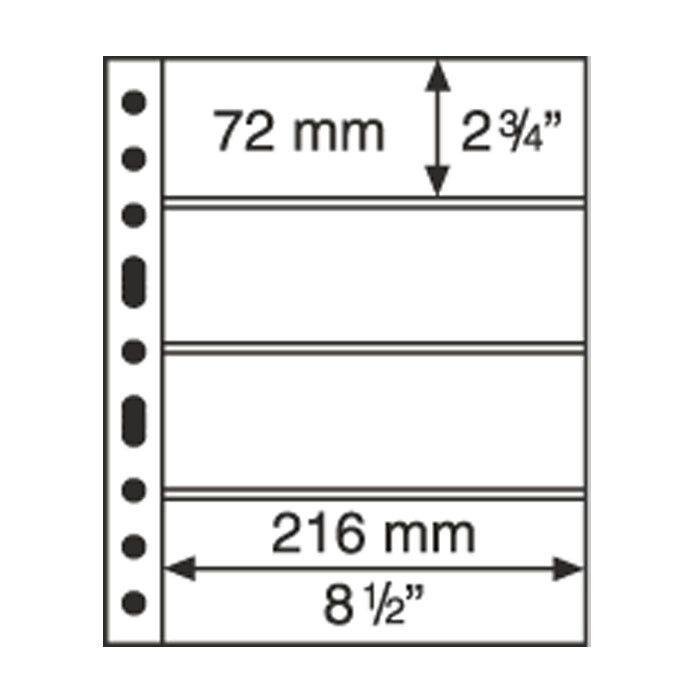 Feuilles GRANDE transparentes pour billets