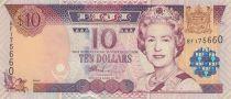 Fidji 10  Dollars Elisabeth II - Bateau 2002