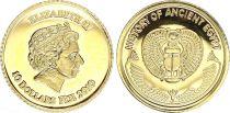 Fidji 10 Dollars - Elisabeth II - Histoire de l\'Egypte - 2010 - Or