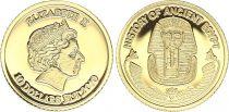 Fidji 10 Dollars - Elisabeth II - Histoire de l\'Egypte -Toutankhamon 2010 - Or