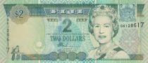 Fidji 2  Dollars - Elisabeth II - Famille fidjienne - 2002