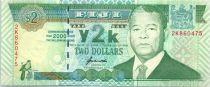 Fidji 2  Dollars - Sir Penaia Ganilau - Année 2000 ou le millénaire commence - 2000