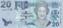 Fidji 20 Dollars Elisabeth II - Exploitation forestière - 20017